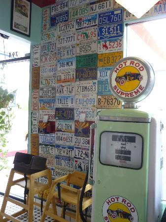 Bing's Burger Station: One of the many interesting walls.
