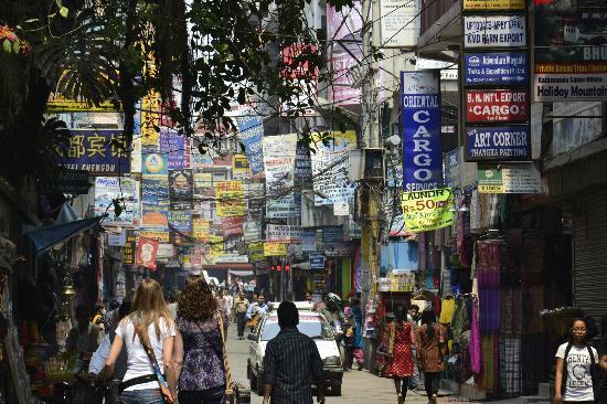 Kathmandu, Nepal: Thamel street