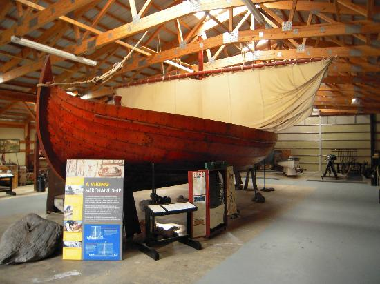 Runestone Museum: Scaled-down replica of a Viking ship