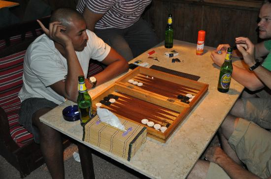 Ghazala Hotel: relaxing at night little game backgammon before heading out