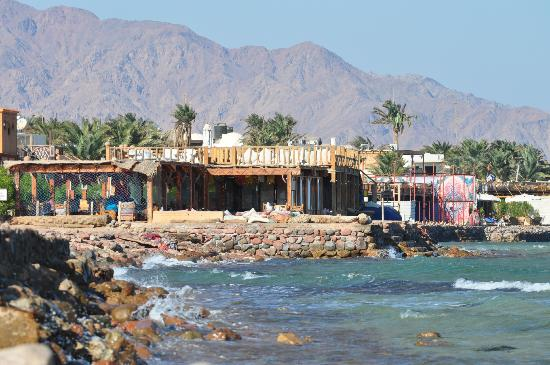 Ghazala Hotel: looking towards Dahab from the Ghazala