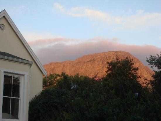 The Garden House: That mountain at sunset