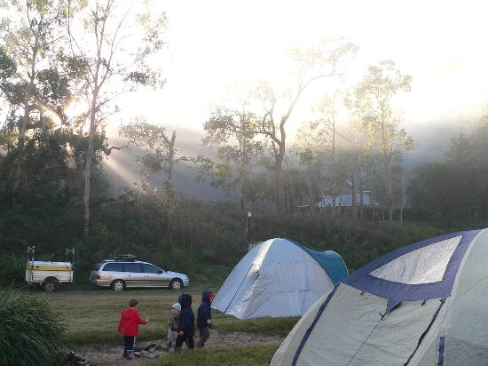 Clarence River Wilderness Lodge: Sunrise over CRWL homestead