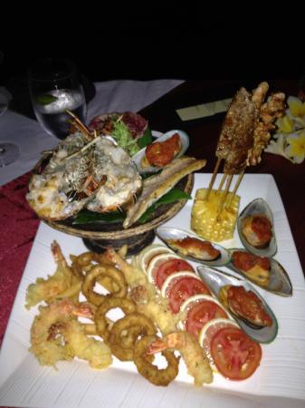 Anantara Seminyak Bali Resort: Seafood Feast for dinner