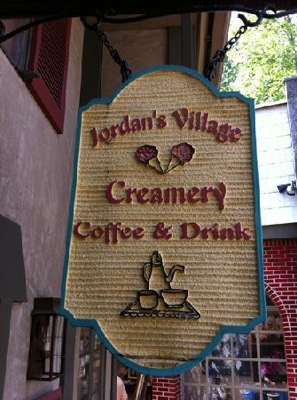 The Village Cafe & Creamery: outside sign