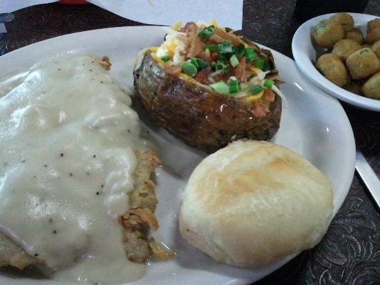 Cartwright's Ranch House: Chicken Fried Steak-tough, greasy and too much breading.