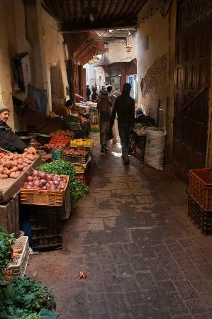 ‪‪Riad Laayoun‬: Produce market around the corner from Riad Laayoun‬