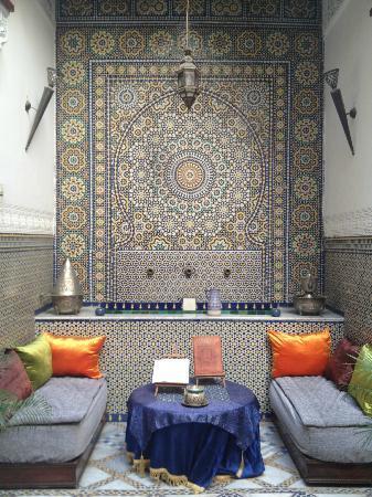 Lobby of Riad Laayoun