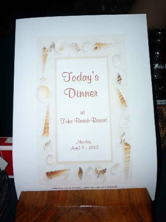 Tuko Beach Resort: Dinner