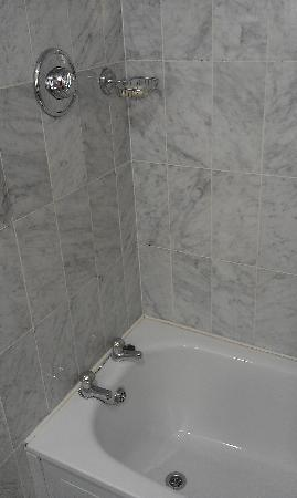 Talbot Hotel Stillorgan: mould in grout and dirty trim