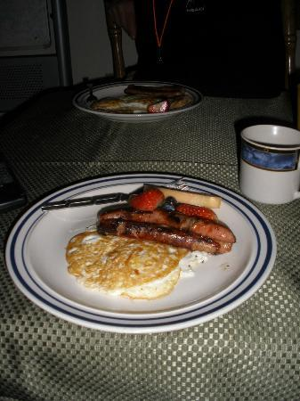 Alaska Powder Descents : Breaky one morning. Great pre ski fuel for the day.