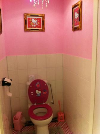 Hostelle: The Hello Kitty toilet