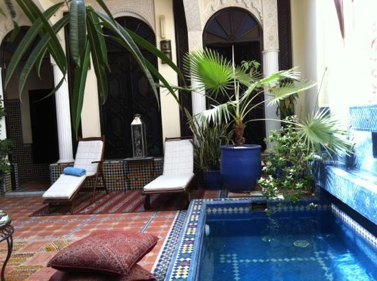 Riad 58 Blu: the courtyard