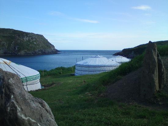 Cape Clear Island, Ierland: View from yurts