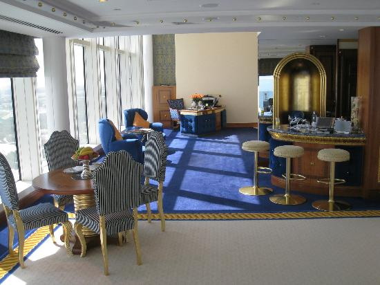 Burj Al Arab Jumeirah: The portion of the downstairs w/business office