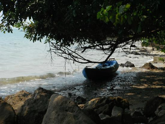 Esmeralda View Resort: beach area and free canoe