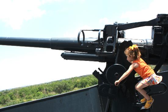 Battleship Texas State Historic Site : She's having a blast!