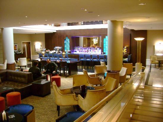Lobby level lounge area and bar picture of prague for Design hotel jewel prague tripadvisor