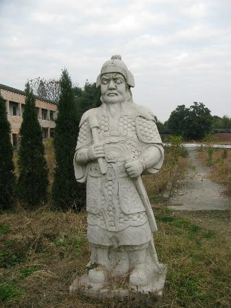 Taihun Taoist Temple: One of many stone statues of people and animals on the grounds