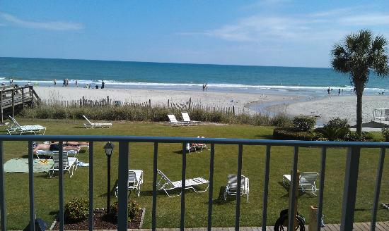 Beach House Golf & Racquet Club: view from balcony of room 208