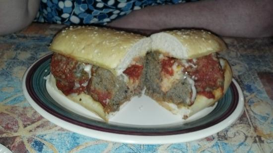 Tony's Pizza: Meatball sub