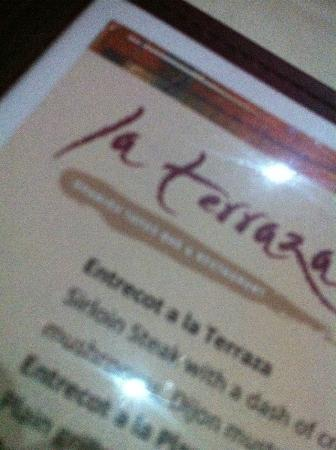 Menu Logo Picture Of La Terraza Walton On Thames