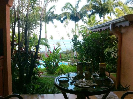 Hotel Au 'Ti Sucrier: vue depuis la terrasse de notre studio
