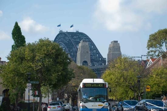 nice harbour bridge views picture of millers point sydney tripadvisor. Black Bedroom Furniture Sets. Home Design Ideas
