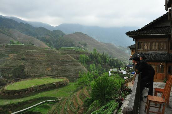 JinTian Guest House: Terrace-View