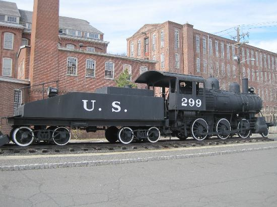 Paterson, NJ: the building in the background in part of the Rogers Locomotive works