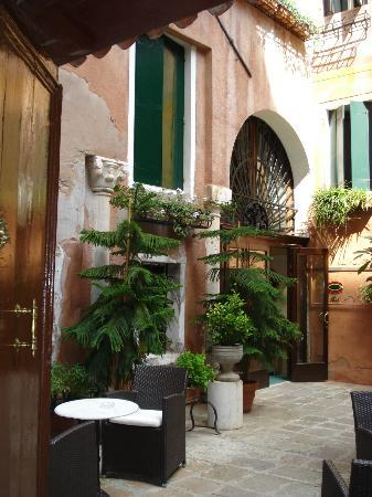The courtyard entrance