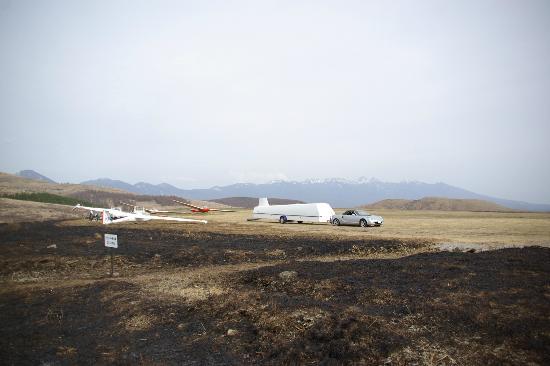 Kirigamine Fujimidai: 霧ヶ峰でグライダーを運行している様子