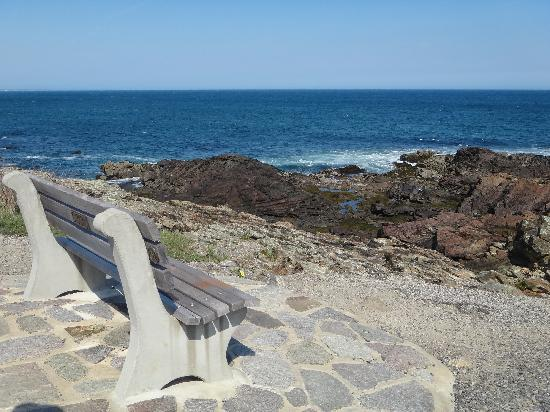 Ogunquit, ME: lovely place to sit on Marginal Way