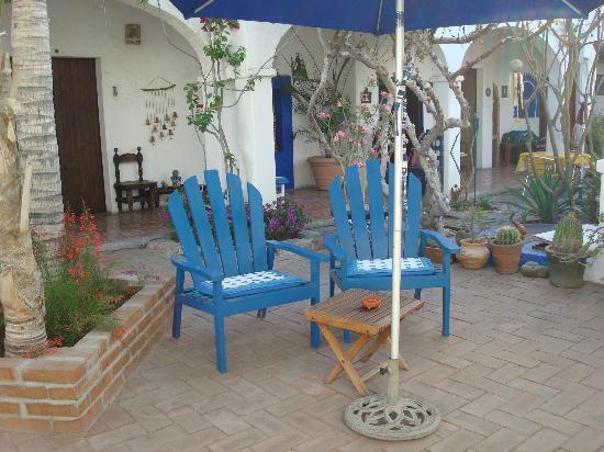 El Angel Azul Hacienda: Gartenanlage im B&B