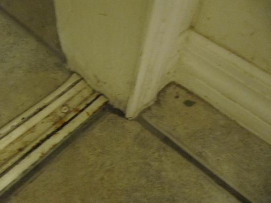 Rock Lake Resort: PURE FILTH! JUST INSIDE FRONT DOOR AND CLOSRT TRACKS,