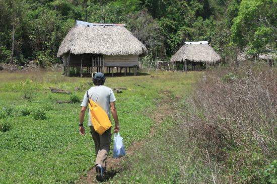 Xplora Panama Day Tours: Bayano Caves: Underground River Trekking Adventure - heading for cave entrance