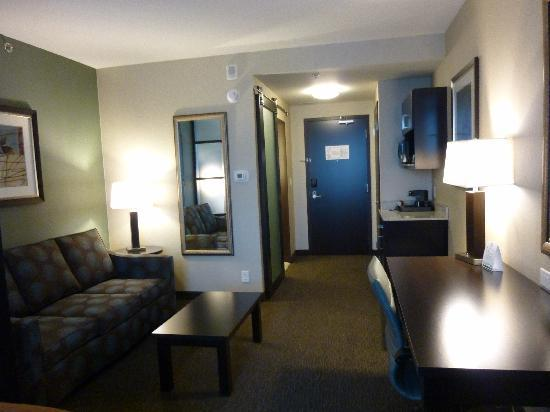 Holiday Inn Hotel & Suites Saskatoon Downtown: King room- has fridge and nicrowave