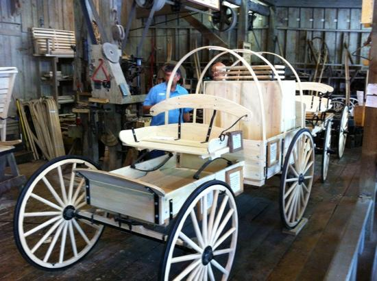 The Track Family Fun Park: the wagon building shop.. wagons for sale here..