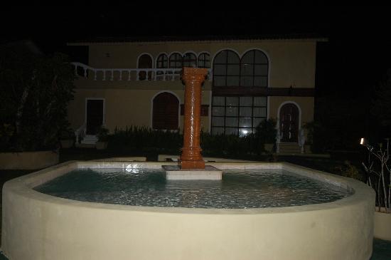 Villablanca Garden Beach Hotel: Closer look at fountain
