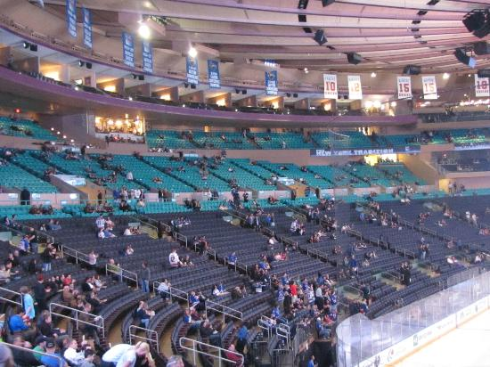 Madison Square Garden: Game Action From Section 102 Row 21