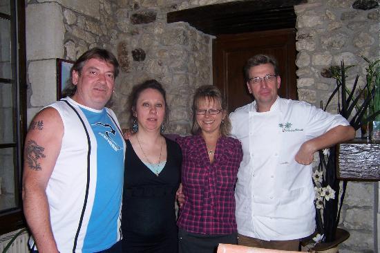 Le Clos de la Palmeraie: avec Gérard et Chrisitine