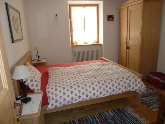 Maso Vaia: la camera del mini appartamento