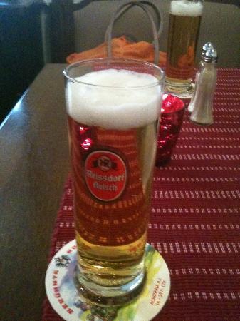 GASTSTAETTE IM MARIENGARTEN: Local Beer