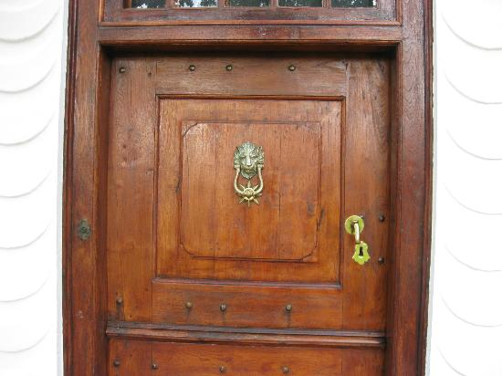 Vredenburg Manor House: Original Front Door from 1800.