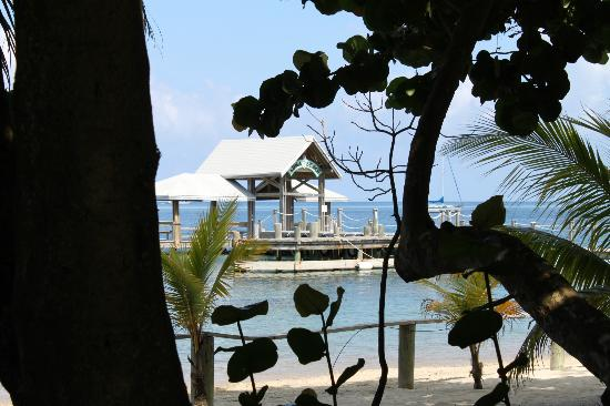 Luna Beach Resort: View of the dock from our porch