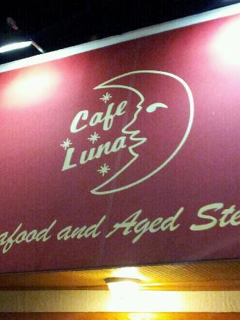 Cafe Luna Bistro: Can't miss the red canopy. Should be a STOP sign as in do not stop.