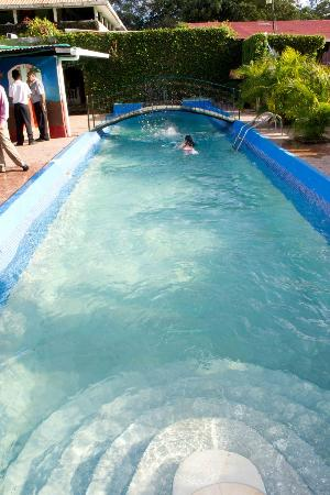 San Marcos, Nikaragua: this pool is a former coffee drying area