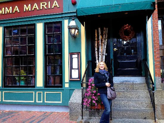 Mamma Maria: One of the twosisters ready for a fancy night out a the North End