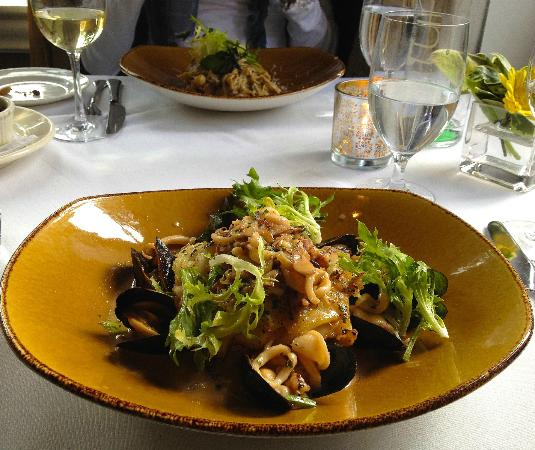 Mamma Maria: Cod dish with mussels, calamari and risotto