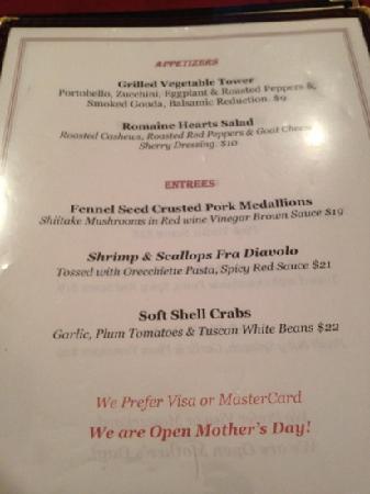 Su Xing House: menu